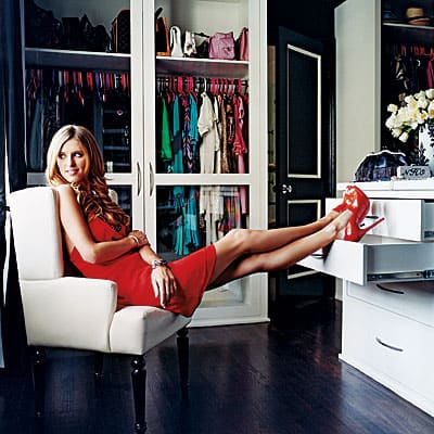 Nicky Hilton's custom closet utilizes drawers for a polished look