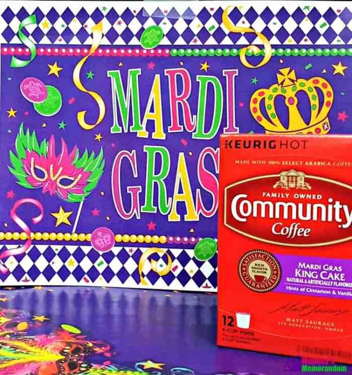 community coffee mardi gras king cake coffee hints of cinnamon