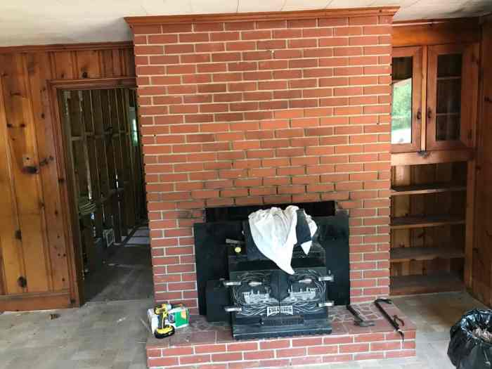 dad's house home remodel fireplace