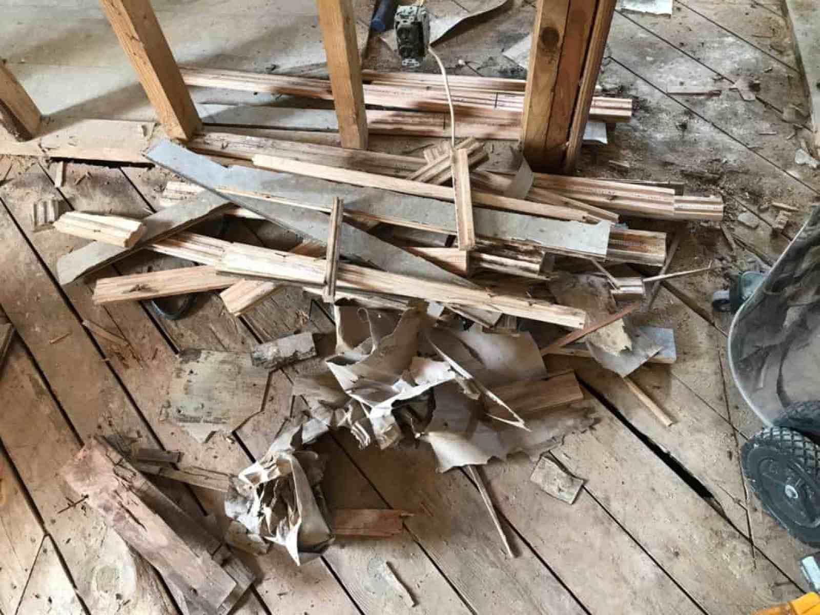 dad's house remodel oak flooring