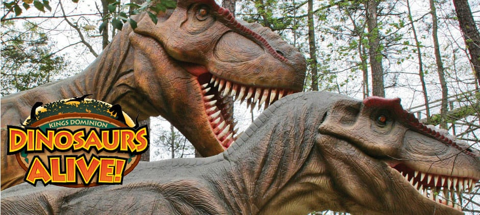 kings dominion dinosaurs alive