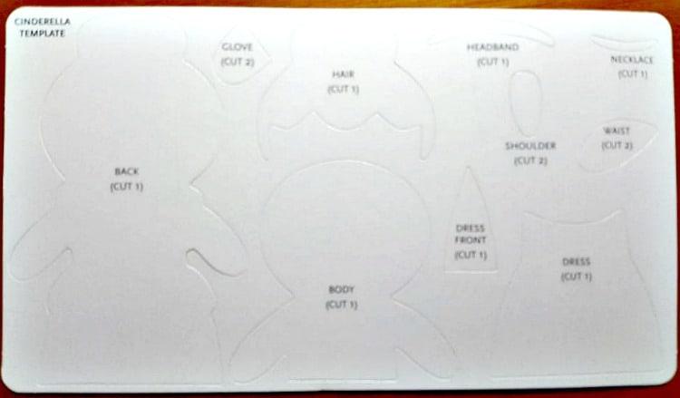 disney princess felt kit templates