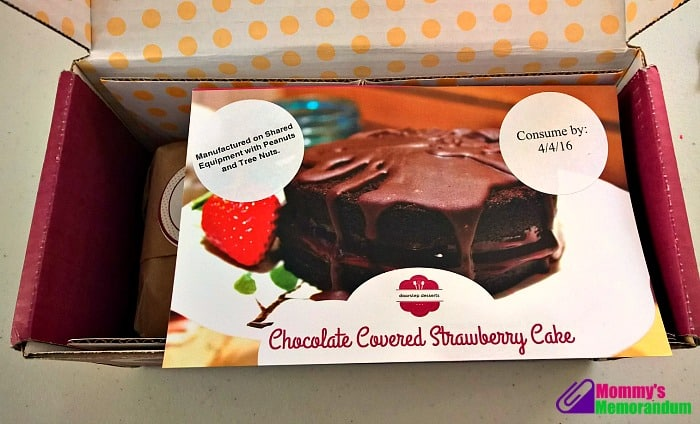 doorstep desserts chocolate strawberry cake kit