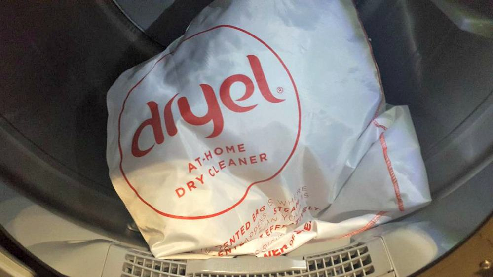 dryel bag in the dryer