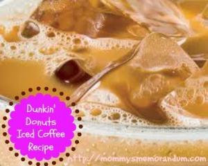 Dunkin Donuts Iced Coffee #Recipe