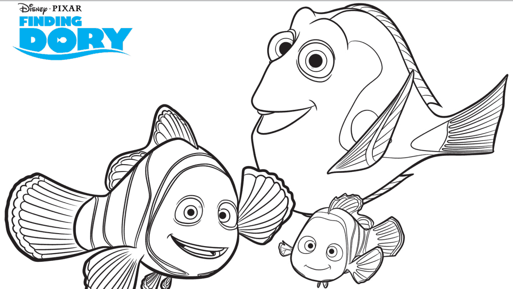 Disneys Finding Dory FREE Activity Sheets and Coloring Pages