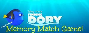 FREE Printable Dory Memory Match Game #HaveYouSeenHer
