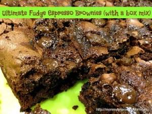 **Easy** Ultimate Fudge Espresso Brownies (w/a box mix) #Recipe