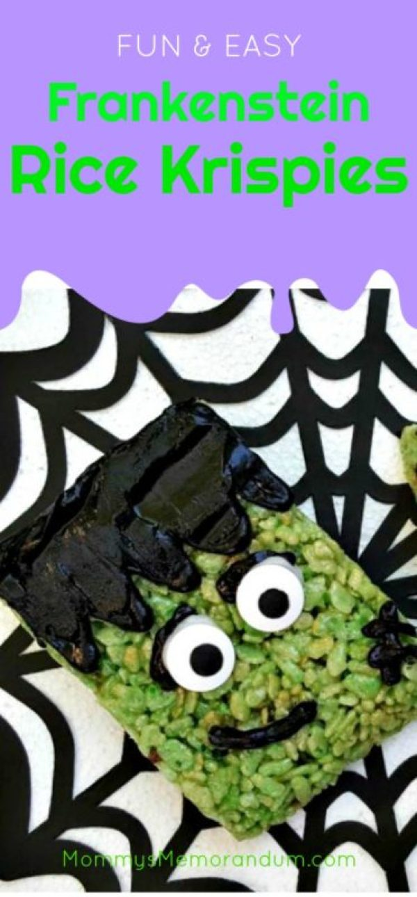 fun and easy frankenstein rice krispies