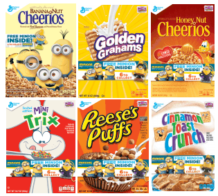 general-mills-cereals with minions buddies