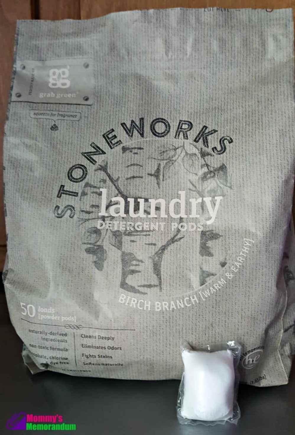 grab green birch branch laundry detergent pods