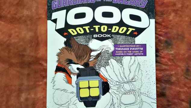 Guardians of the Galaxy 1000 Dot-to-Dot Book by Thomas Pavitte