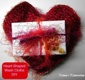 Heart Shaped Wash Cloths Craft Tutorial