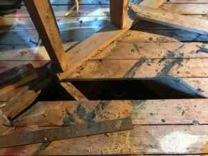 Home Remodel: Floor Repairs and Closing a Doorway