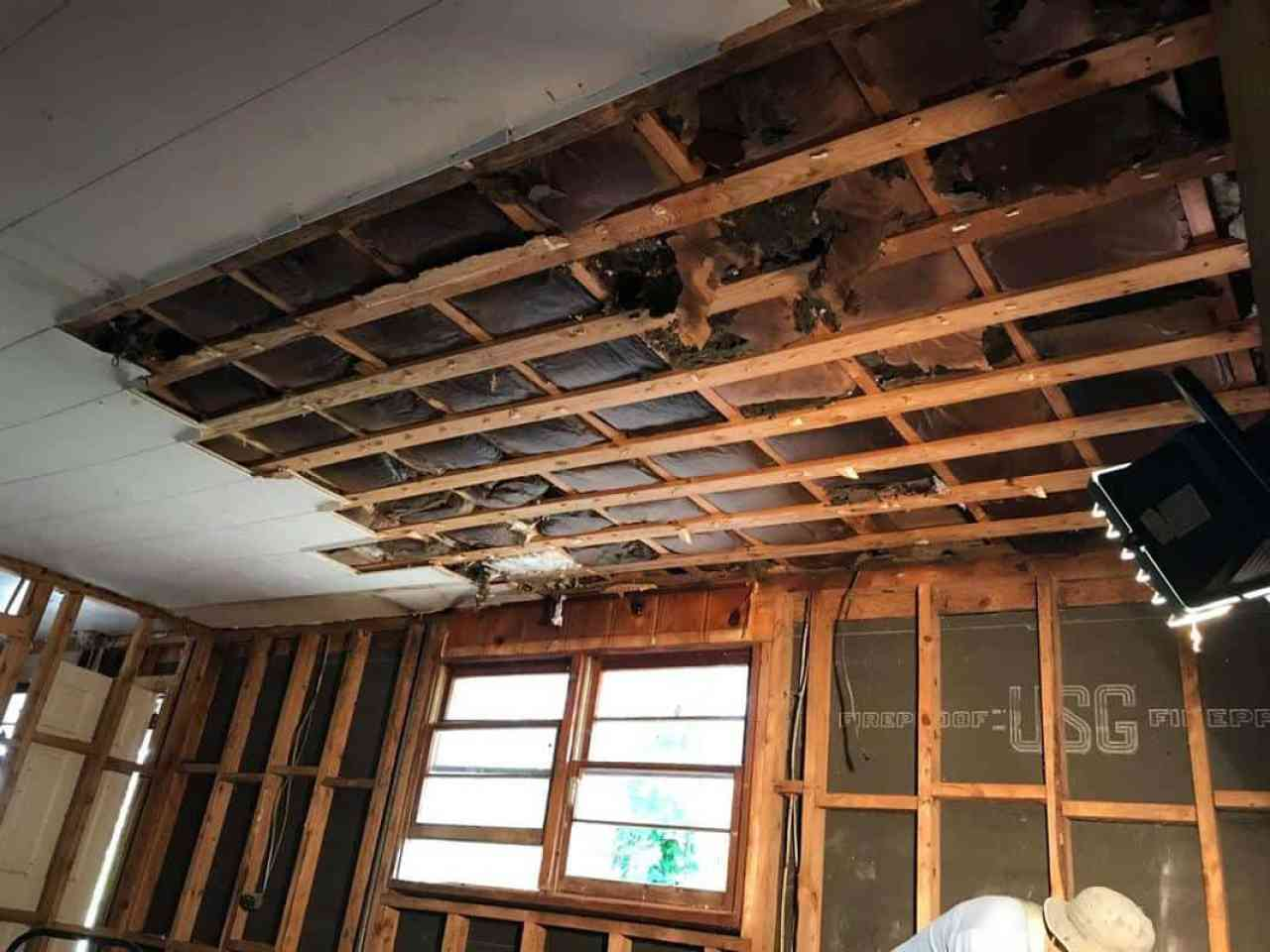 home remodel kitchen ceiling coming out