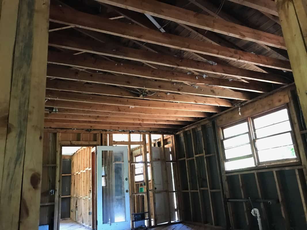 home remodel kitchen ceiling out