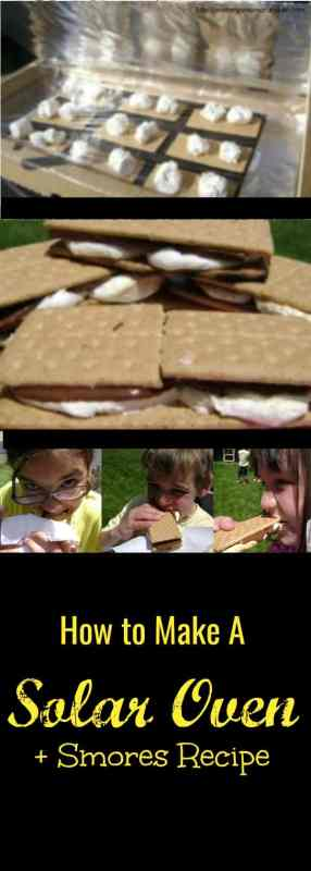 how to make a solar oven + smores recipe