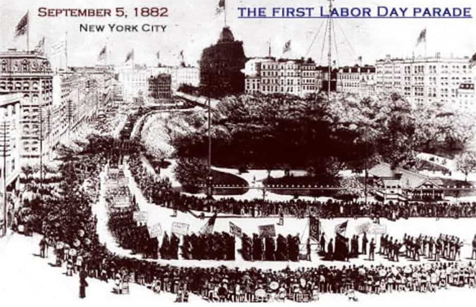 The first Labor Day was hardly a national holiday. Workers had to strike to celebrate it. Frank Leslie's Weekly Illustrated Newspaper's September 16, 1882