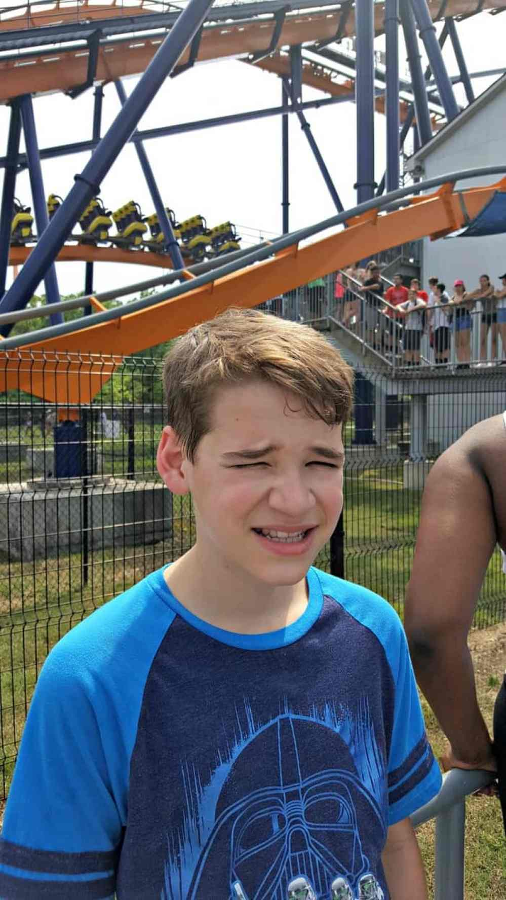 in line at the dominator at Kings dominion