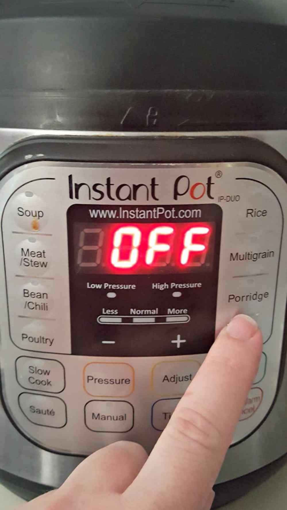 instant pot rice pudding (arroz con leche) press the porridge button