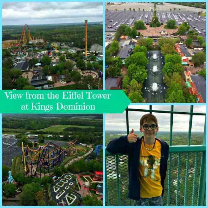 kings dominion eiffel tower Collage