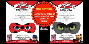 FREE Printable Miraculous: Tales of Ladybug & Cat Noir: Spots On! Mask Printables