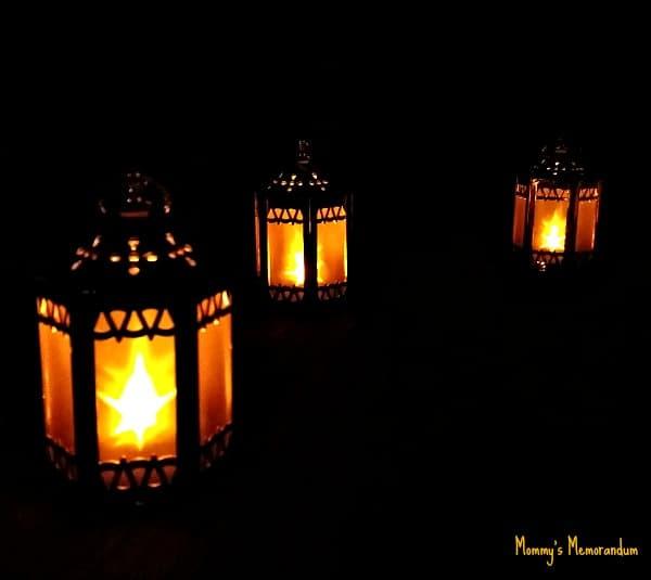 lanterns in a row