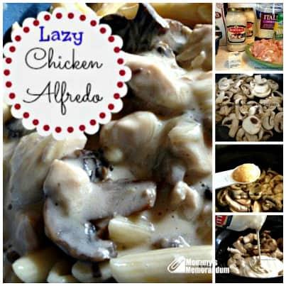 lazy chicken alfredo Collage