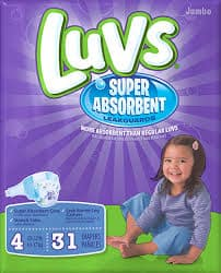 luvs super absorbent diapers #theclueisintheblue
