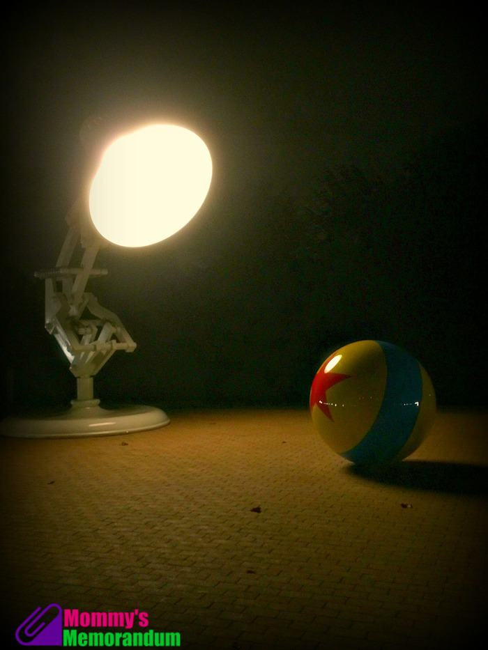 luxo jr at pixar at night