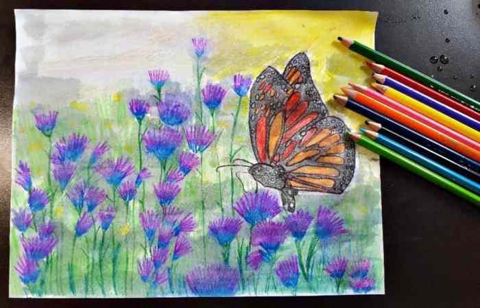 maped helix aqua colored pencils watercolor