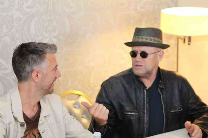 michael rooker talking to sean gunn