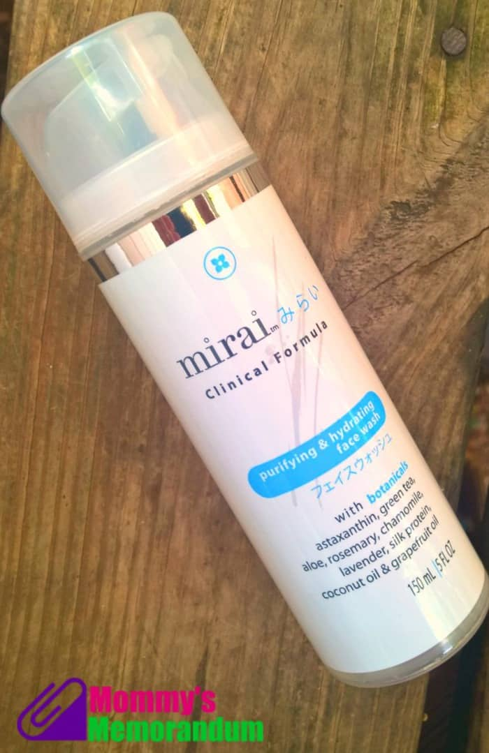 mirai clinical purifying and hydrating face wash