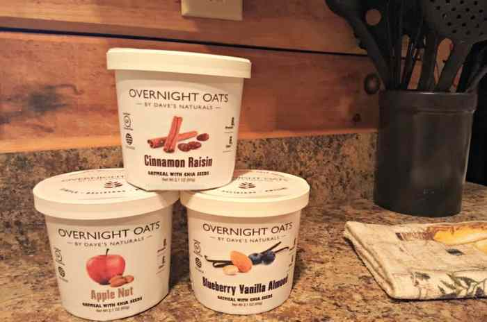 overnight oats by dave's naturals