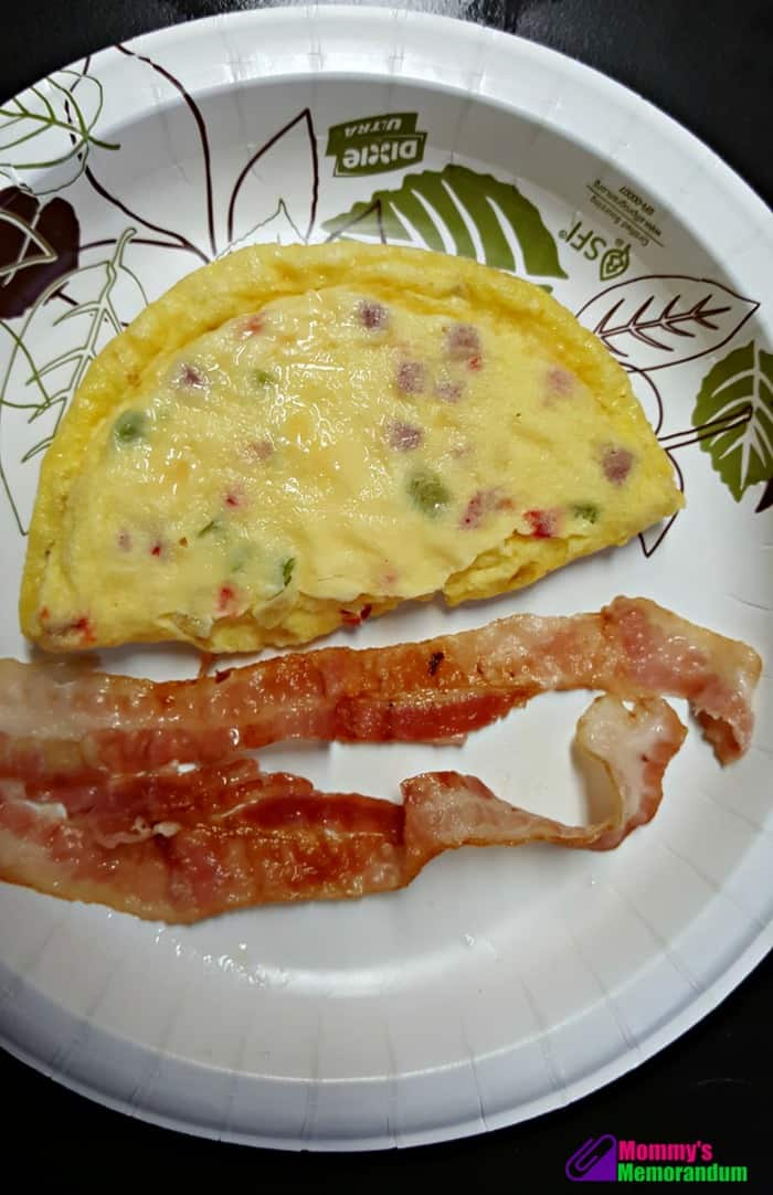 personal trainer food omelette with bacon