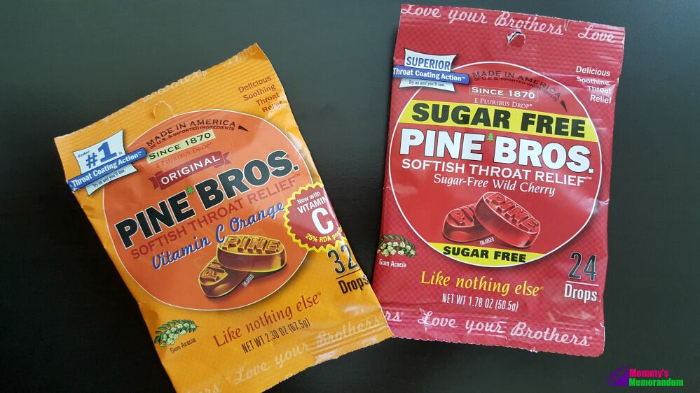 pine bros softish throat drops