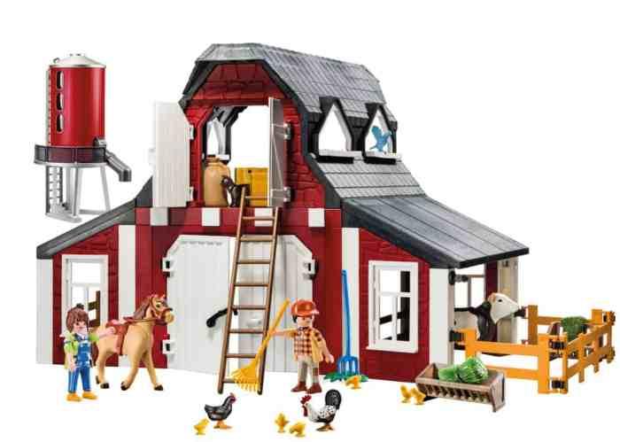 playmobil barn and silo