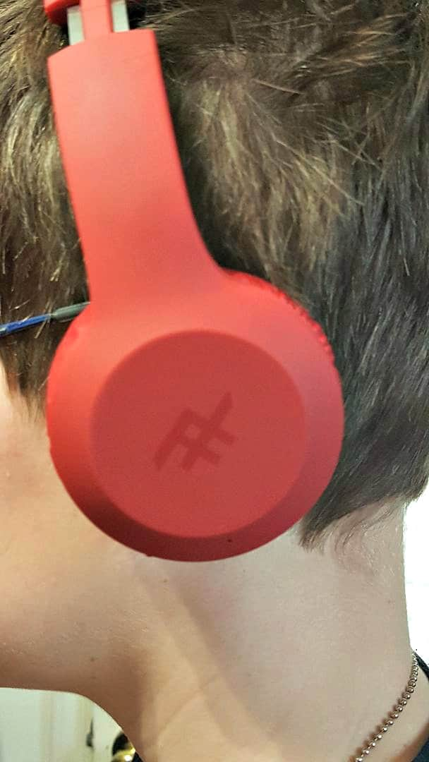 red iFrogz Headphones