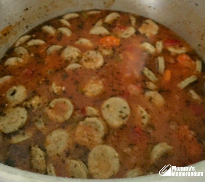 sausage and pasta soup with al fresco chicken sausages