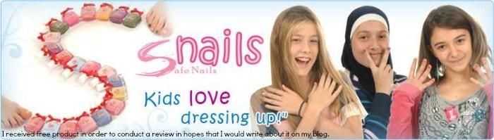 snails washable nail polish logo