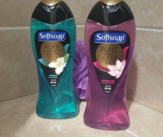 softsoap pure zen body wash