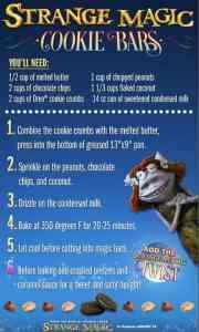 Cookie Bars with a #StrangeMagic Twist #Recipe