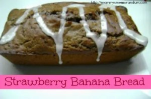 Strawberry Banana Nut Bread #Recipe