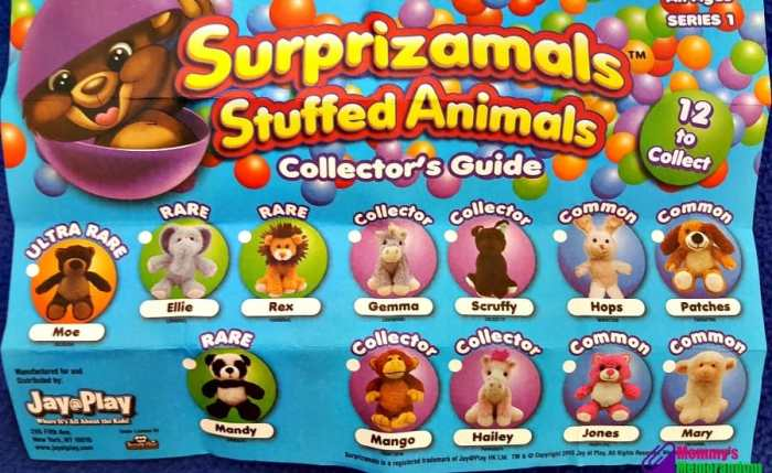 surprizamals stuffed animals collector's guide