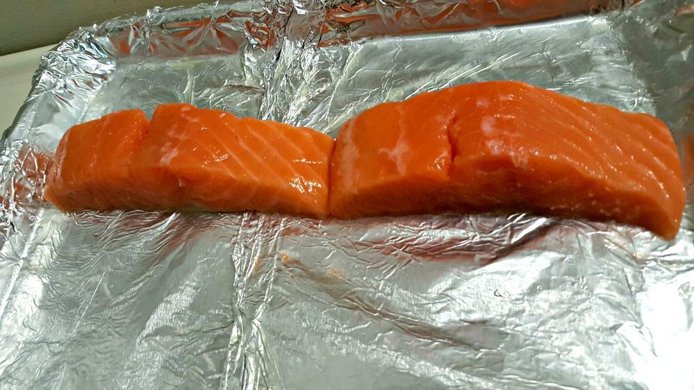 terras kitchen salmon on cooking sheet