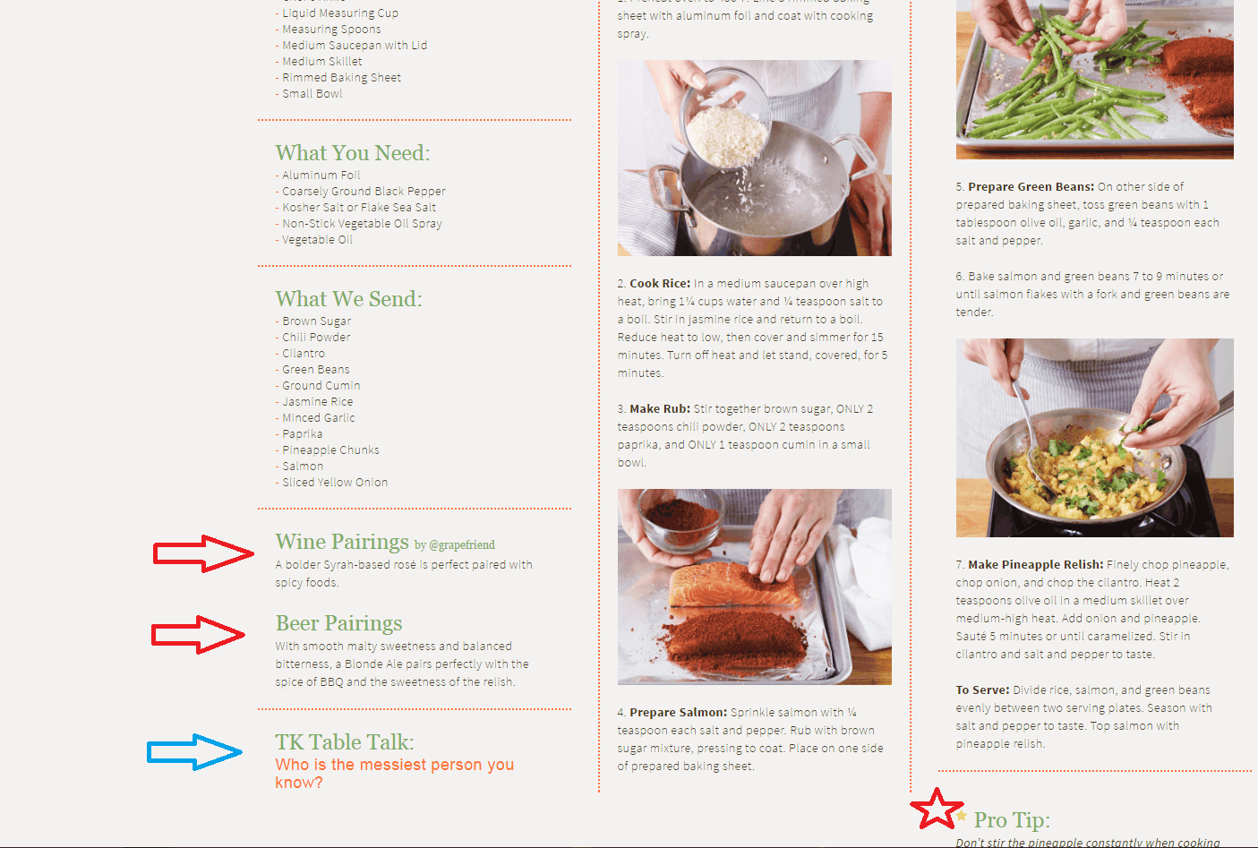 terras kitchen step by step instructions