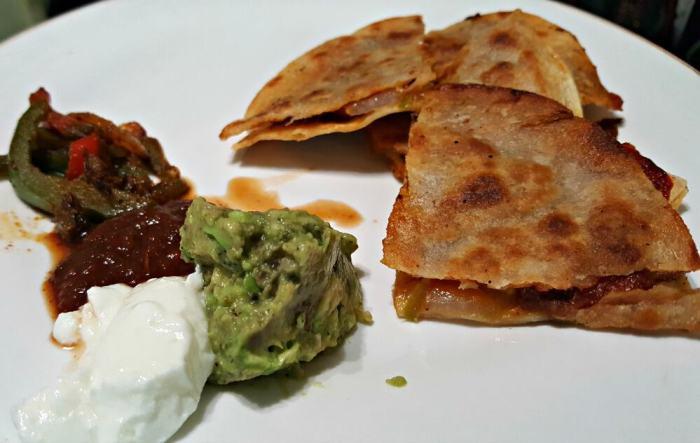 terra's kitchen vegetable quesadilla served