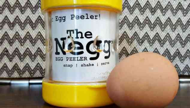 The Negg is a Clever Plastic Egg Peeler
