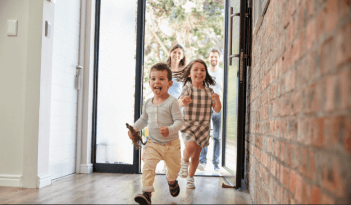 the process of turning a house into a family home