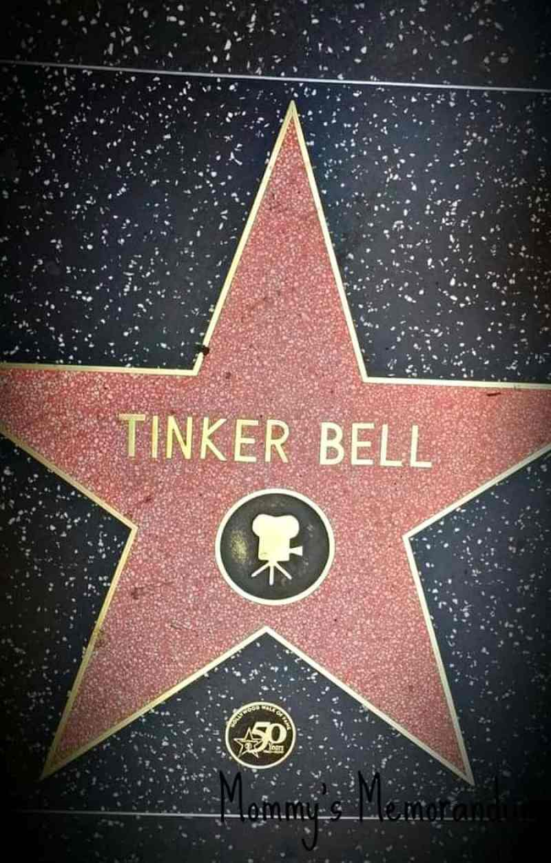 tinkerbell walk of fame
